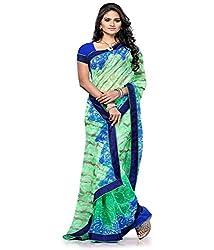 Pushkar Sarees Chiffon Saree (Pushkar Sarees_18_Green)