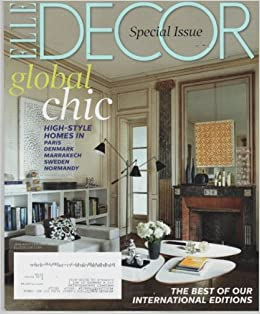 Elle decor 2014 january february cover the living room for Elle decoration france