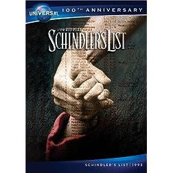 Schindler's List DVD (Universal's 100th Anniversary)