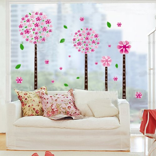 Diente de le n rbol de flores etiquetas de la pared for Pegatinas habitacion infantil