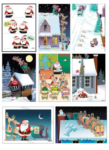 Funny Christmas Card Variety Pack 24 cards/ 26