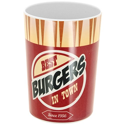 New York -Gobelet Verre En Mélamine Pub Vintage Usa Fast Food Best Burger Idéal Repas