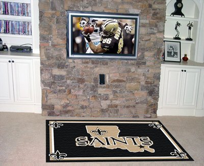 NFL New Orleans Saints Novelty Mat Size: 4' x 6'