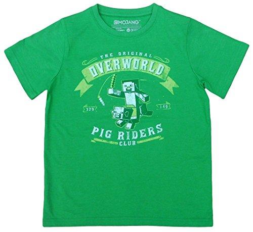 Minecraft -  T-shirt - ragazzo verde 11/12 anni