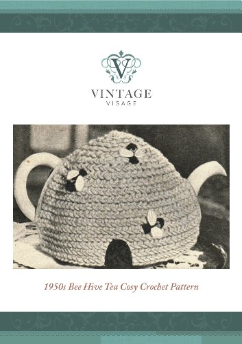 How to make a retro 1950s style bee Hive tea cozy,cosy-crochet pattern