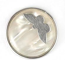 Noosa mariposa Chunk blanco de resina de metal