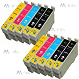 10x Compatible Epson Stylus SX400 SX405 SX410 SX415 Printer Ink Cartridges (Contains: 4x Black 2x Cyan 2x Magenta 2x Yellow)
