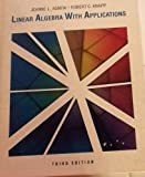 img - for Linear Algebra With Applications 3 Sub edition by Agnew, Jeanne L. (1988) Hardcover book / textbook / text book