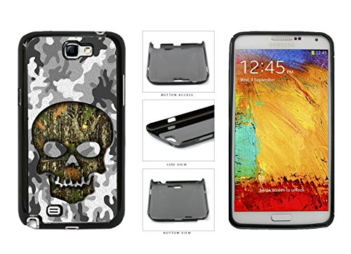 Human Skull With Camo Pattern Background Plastic Phone Case Back Cover For Samsung Galaxy Note II 2 N7100 comes with Security Tag and myPhone Designs(TM) Cleaning Cloth