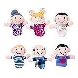 Moon Boat Family Member Finger Puppet Kids Toy 6 PCS