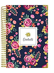 bloom daily planners Address Book - Contacts - Addresses and Phone Numbers - 6\