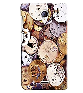 Blue Throat Old Watch Machine Inspired Hard Plastic Printed Back Cover/Case For Micromax Unite 2