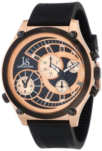 Joshua & Sons Caballero JS-13-RG Duel Time Quartz cron-grafo Strap Reloj