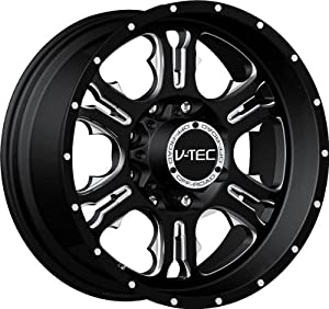 VISION WHEEL – 397 rage – 20 Inch Rim x 9 – (6×135) Offset (12) Wheel Finish – gloss black milled spoke