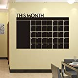 Kolylong® Wall Stickers Home Decor Living Room Feather Wall Sticker RéGime Mois 60x92 Calendrier Chalkboard MEMO Chalkboard Wall Sticker Vinyle...