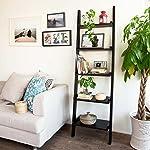 Haotian Modern ladder bookcase made of wood, book shelf,stand shelf, wall shelf ,corner bookshelf (FRG17-SCH)