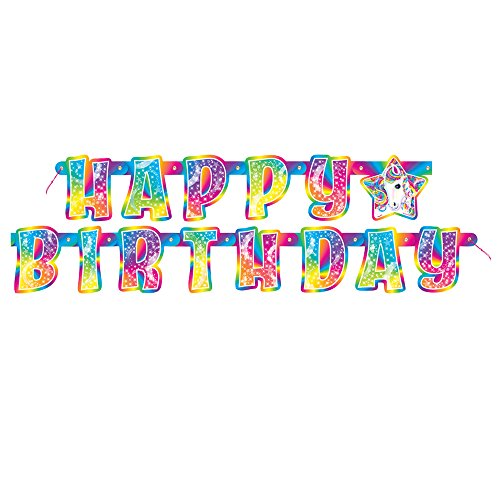 5.5ft Rainbow Majesty by Lisa Frank Birthday Banner - 1