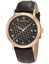 Stuhrling Prestige Men's 358.334K1 Swiss-Made Tradition Automatic Date Brown Watch
