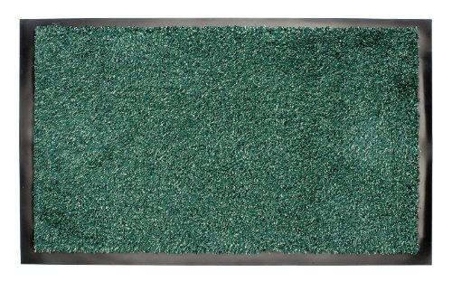 Washamat Barrier Doormat Absorbent Dirt Mud Stopper Door Runner Anti Slip Back 180cm x 60cm Green