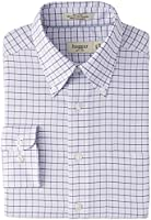 Haggar Men's Regular-Fit Tattersall Oxford Button-Front Shirt
