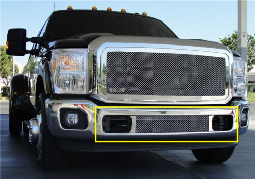 T-Rex Grilles 55546 Upper Class Large Mesh Stainless Polished Finish Bumper Grille Bolt-on for Ford Super Duty (Super Duty Sticker Insert compare prices)