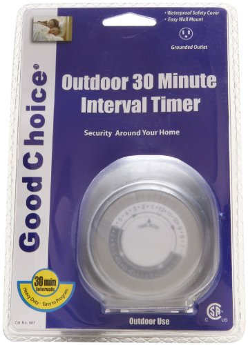 Good Choice 607 Outdoor 30-Minute Interval Timer With Waterproof Safety Cover