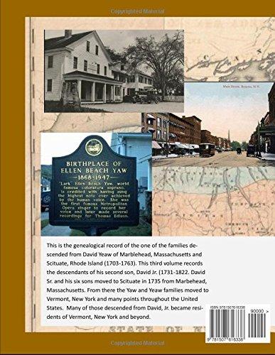 The Yaw-Yeaw Family in America, Volumes 3-4: David Yeaw, Jr.