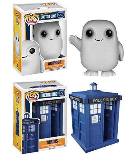 "Funko Doctor Who POP! TV 6"" Tardis & Adipose Vinyl Collectors Set"