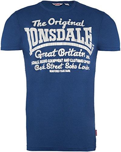 Lonsdale - T-shirt FINTANO, Maglia a maniche lunghe Uomo, Blu (Stahlblau), X-Large (Taglia Produttore: X-Large)