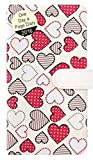 2016 Slim White Padded Colourful Dotted Hearts Day to a Page Press Stud Diary 1707