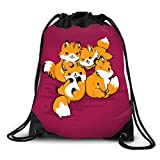 FUNKYLICIOUS Drawstring Polyester Its Playtime Design (Multicolour)