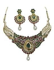 Zaveri Pearls Kundan Necklace Set ZPFK102 For Women
