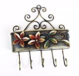 Collectible India Beautiful Wall Mounted Key Holder With Bucket For letters Designer Iron Key Hanger -Handmade home Decoratives