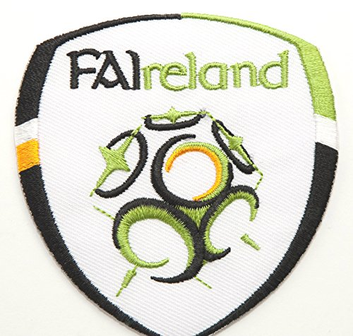 "Republic of Ireland Patch Embroidered Iron/Sew on Badge - 3"" FAI Soccer Crest World Cup Football Souvenir"