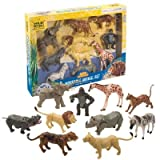 Moveable Wild Animal Movable Figure Set/Set of 10