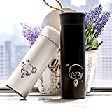 Set Of 2 Matching Vacuum Flask Stainless-Steel Thermos, Makes A Great Anniversary Or Birthday Gift For Couples