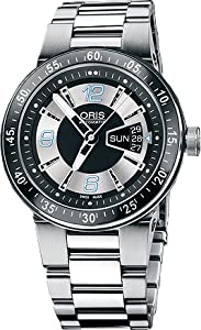 Oris Men's 4174MB Williams F1 Team Black and Silver Dial Stainless Steel Bracelet Watch from Oris