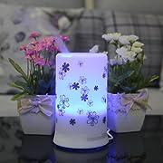 Signstek White with Chrysanthemum Pattern Ultrasonic Aroma Diffuser