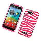 Eagle Cell PIMOTXT897R129 Stylish Hard Snap-On Protective Case for Motorola Photon Q XT897 - Retail Packaging - Pink Zebra