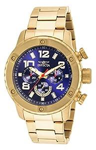Invicta Mens Speedway Quartz Chronograph Gold Tone Stainless Steel Bracelet Watch