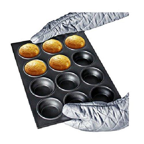12 Holes Metal Cupcake Mould Ovenware Pan Bake Tool