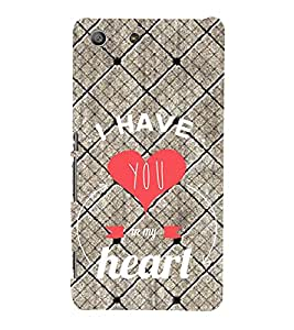 99Sublimation You are in My Heart 3D Hard Polycarbonate Back Case Cover for Sony Xperia M5 Dual :: E5633 :: E5643 :: E5663