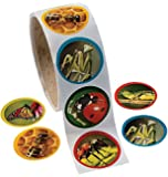 """Fun Express 1 Roll Realistic Bug/Insect Stickers (100 Piece), 1.5"""""""
