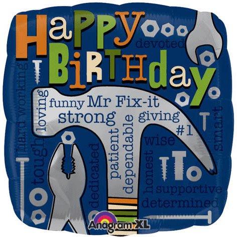 "Anagram International Mr. Fix-It Birthday Balloon, 18"", Multicolor"