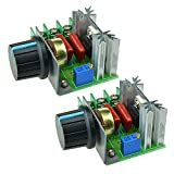 Aideepen 2pcs 2000W 220V AC SCR Electric Voltage Regulator Motor Speed Control Controller