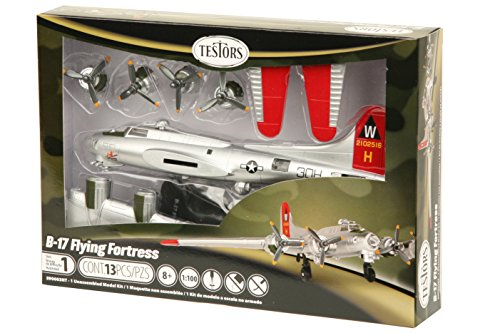 Testors B-17 Flying Fortress Aircraft Model Kit (1:100 Scale) (Flying Fortress Model compare prices)