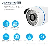 Wireless Camera, Archeer 720P HD WiFi Network Cloud Camera Indoor/Outdoor Security Bullet Camera with Weatherproof IR LED Night Vision Plug & Play Monitor Support iOS Android Laptop PC 832