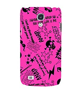 EPICCASE Abstract Art Pink Mobile Back Case Cover For Samsung Galaxy S4 Mini (Designer Case)