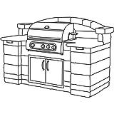 Classic Accessories Veranda Island BBQ Grill Top Cover Large