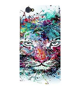 PrintVisa Modern Art Colorful Lion 3D Hard Polycarbonate Designer Back Case Cover for VivoX5Pro